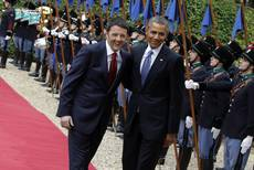 Obama meets Renzi after talks with Napolitano, Pope Francis