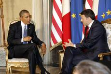 Renzi thanks Obama for 'common values, ideals'