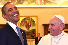 Peace, respect for the rule of law, discussed by Obama, pope