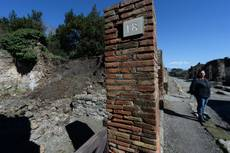 Rain blamed for crumbling walls in Pompeii