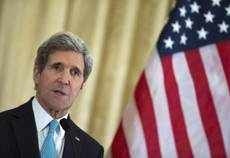 Kerry in Rome for Libya conference, holds talks on Ukraine