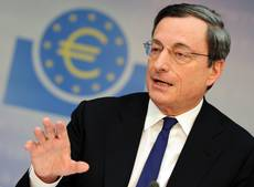 Spread slides to 160 basis points on Draghi's words