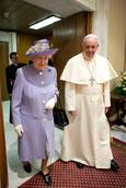 Queen Elizabeth meets Pope, lunches with president