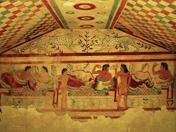Gli etruschi a tavola in viaggio for Vasi antichi romani