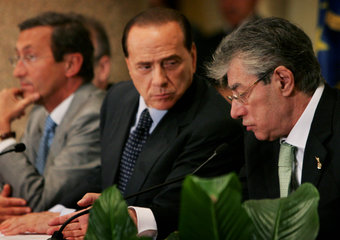 Fini-Berlusconi-Bossi