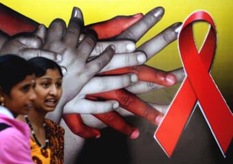 Giornata mondiale dell'Aids a Bangalore