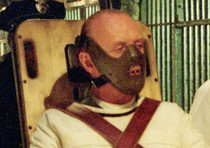 Anthony Hopkins nei panni del serial killer Hannibal 'the cannibal' Lecter