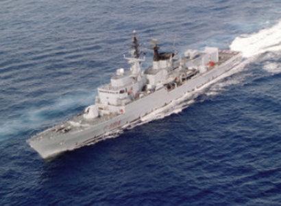La nave della Marina militare 'Bersagliere'