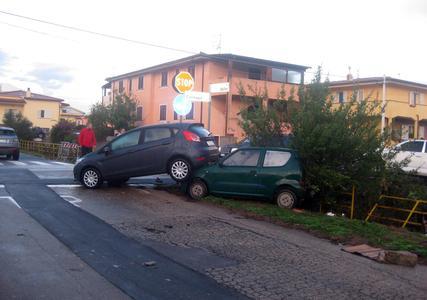 Maltempo in Sardegna (foto La Nuova Sardegna)