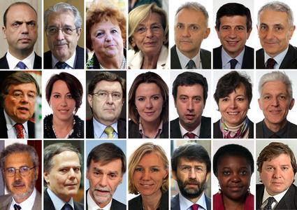 La squadra di governo