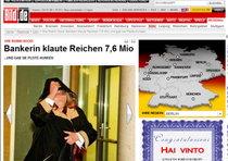 Una riproduzione della pagina web del sito bild.de
