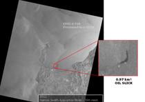Le prime immagini satellitari della chiazza di idrocarburi nelle acque di Porto Torres