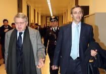 Gli avvocati Niccolo' Ghedini e Piero Longo, difensori del l'ex presidente del Consiglio
