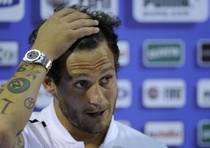Il giocatore della Nazionale Alessandro Diamanti, che e' anche testimonial della campagna 'Noi no, uomini contro la violenza'