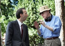 Roberto Benigni e Woody Allen in una foto di scena di 'To Rome With Love'