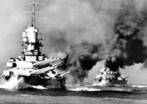 Una immagine d'epoca della corazzata 'Roma'