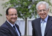 Francois Hollande e Mario Monti