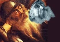 Il volto del disegno trovato a Milano e attribuito al giovane Merisi avvicinato a quello del vecchio soldato della 'Conversione di Saulo' dipinto da Caravaggio, mostra una stupefacente somiglianza