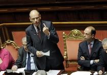 Enrico Letta al Senato per il voto di fiducia