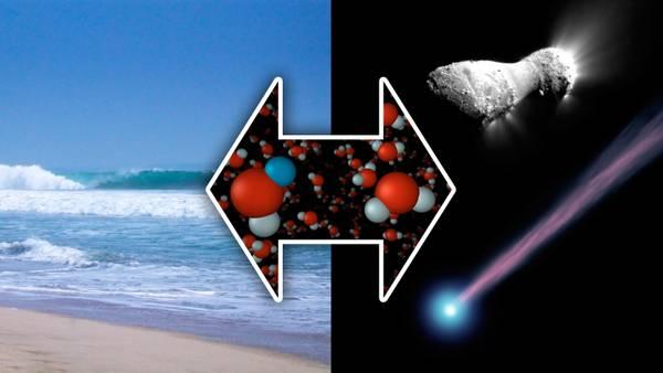 L'acqua ghiacciata della cometa Hartley 2 ha la stessa composizione dell'acqua degli coeani (fonte: NASA/JPL-Caltech/R. Hurt )
