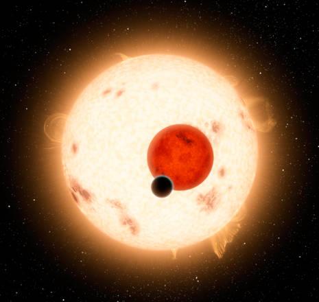 Il pianeta con due soli osservato direttamente (fonte: NASA/JPL-Caltech)