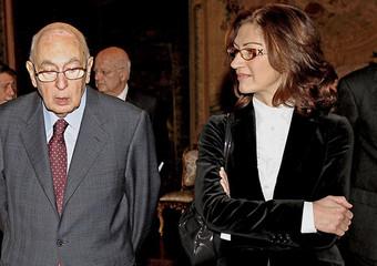 Giorgio Napolitano e Maria Stella Gelmini