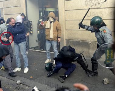 Scontri tra forze dell'ordine e manifestanti