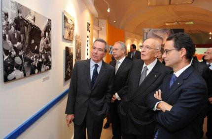 Napolitano visita Fotografandoci (foto Di Meo-Ferrari)