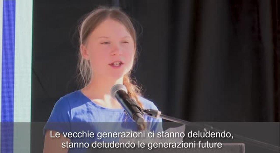 Greta Thunberg a Los Angeles: 'Noi giovani ne abbiamo avuto abbastanza' © ANSA