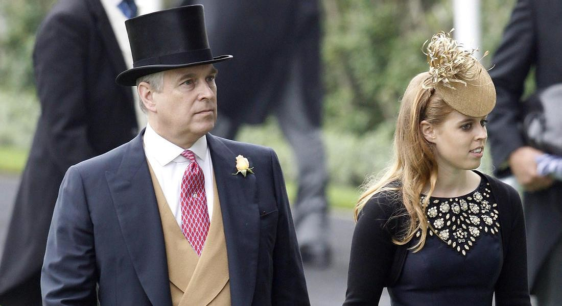 Royal Ascot Ladies day Beatrice con il padre Andrew © EPA