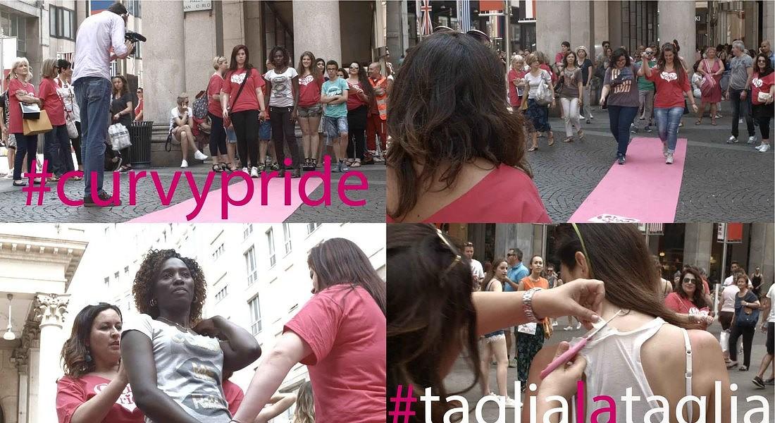 Il Curvy Pride #taglialataglia alla Moda: oltre 500 persone a Milano per la bellezza senza stereotipi © Ansa