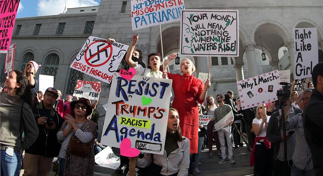 Woman's March protest against US President Donald Trump © EPA