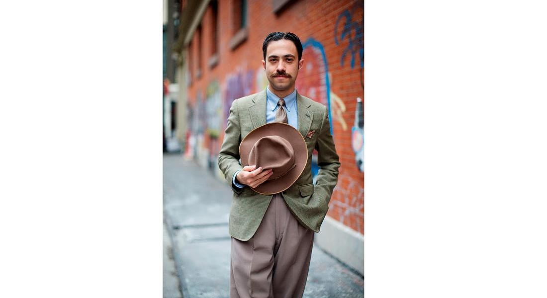 moustache 'Chevron'. Credit Scott Schuman for Braun (per MultiGroomer MGK3080) © ANSA