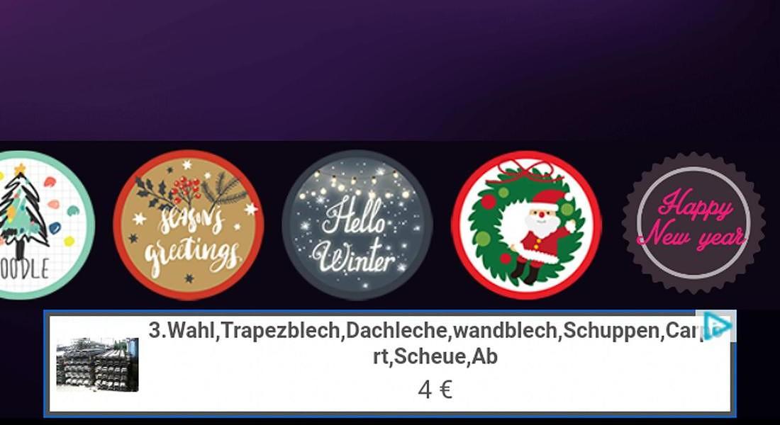 Lifestyle 4. Per un Natale social - Christmas Face Sticker © ANSA