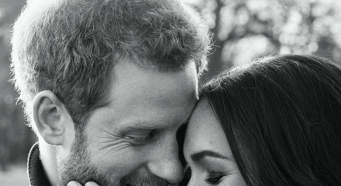 Prince Harry and Meghan Markle official engagement portraits © EPA
