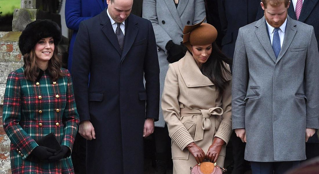 Royal Family Christmas Day Church Service © EPA