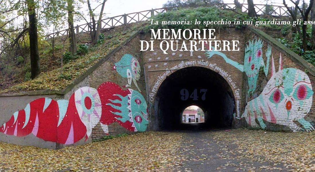 L'urban art dell'artista David Diavù Vecchiato ha realizzato all'interno del tunnel del Quadraro in collaborazione con gli studenti di due scuole medie del territorio quest'opera, in commemorazione della deportazione del Quadraro del 17 aprile 1944. © Ansa
