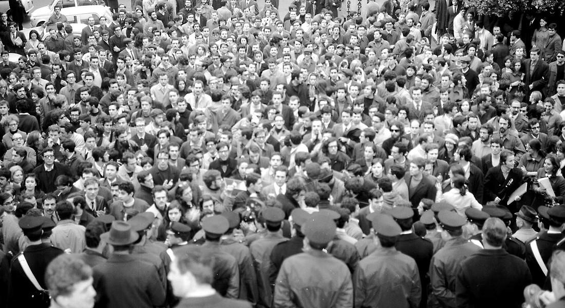 SPECIALE 1968: i disordini a Valle Giulia a Roma, aprile '68 © ANSA