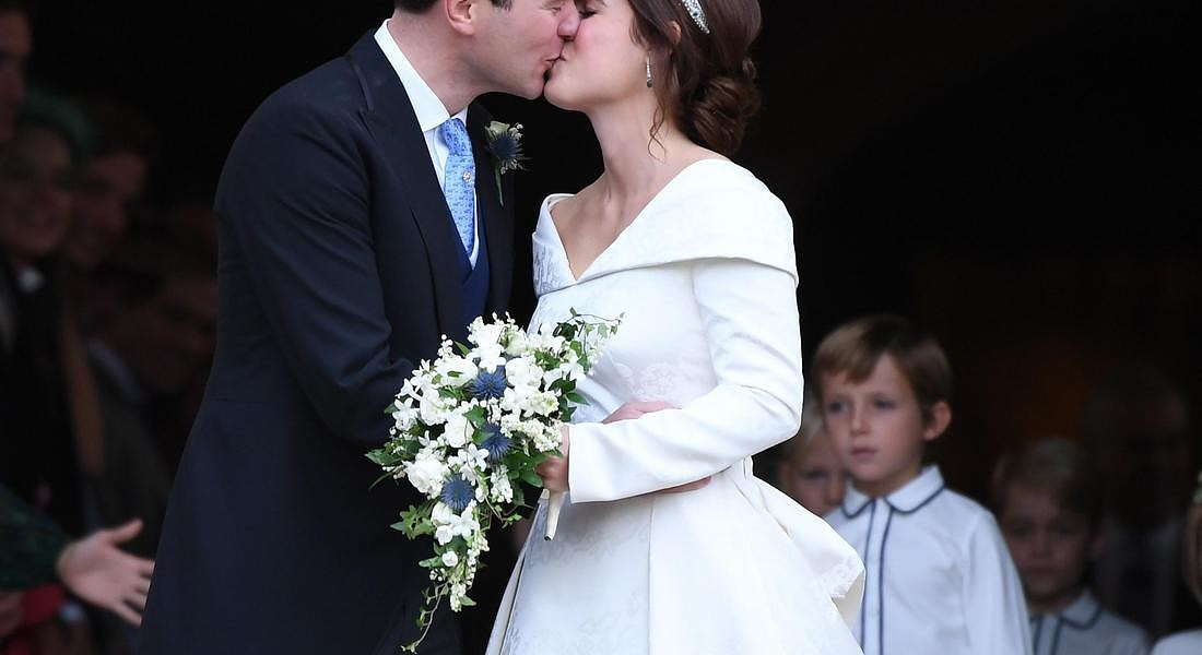 A Windsor si sono sposati la principessa Eugenie e  Jack Brooksbank © EPA