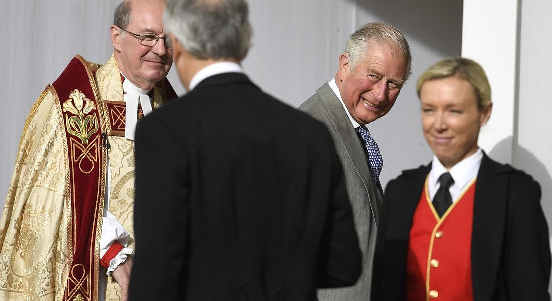 A Windsor si sono sposati la principessa Eugenie e  Jack Brooksbank. Nella foto il principe di Galles, Carlo d'Inghilterra © EPA