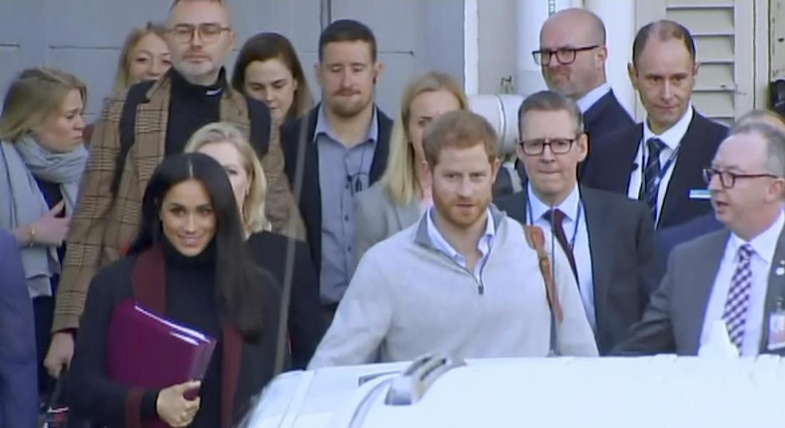 Meghan Markle e il marito, il principe Harry a Sydney © AP