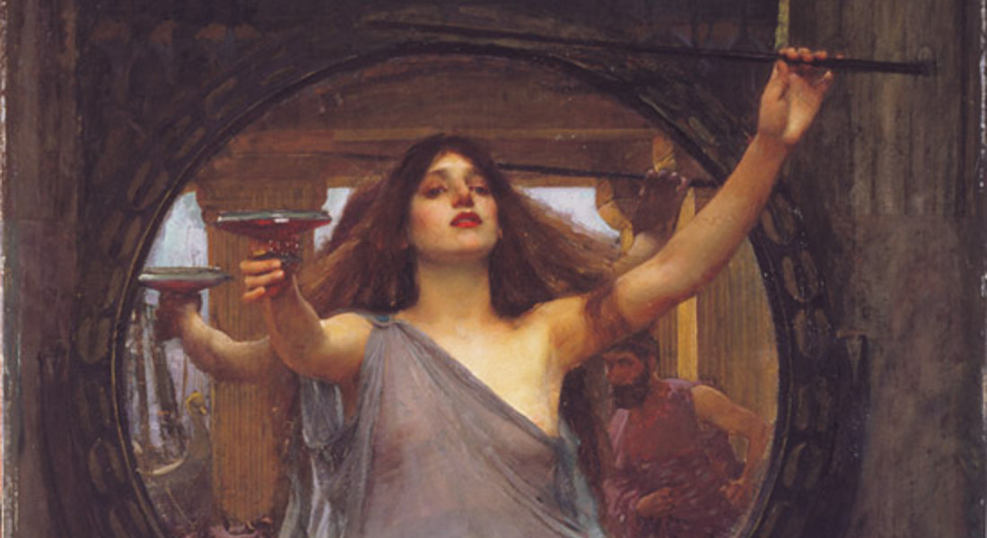 Circe offre la coppa ad Ulisse, un dipinto del pre raffaelita John William Waterhouse (1891) © Ansa