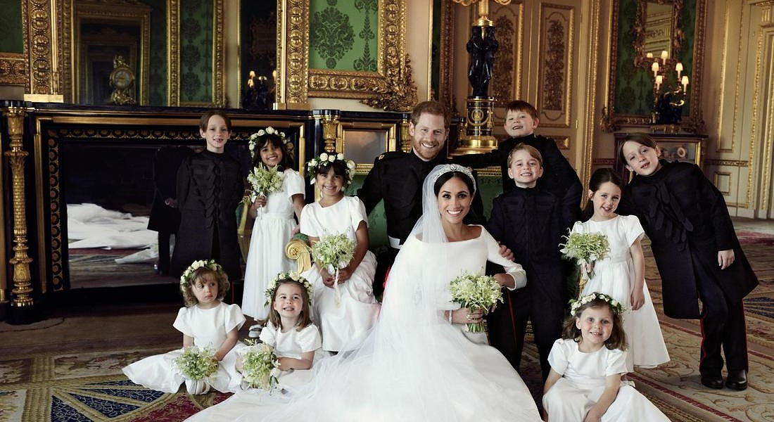 Official royal wedding photograph of Duke and Duchess of Sussex © EPA