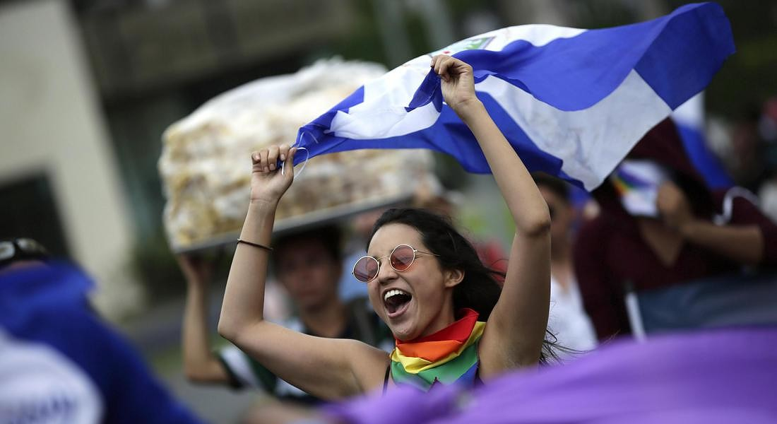 Nicaragua celebrates Gay Pride Day with a march 'for justice and democracy' © EPA