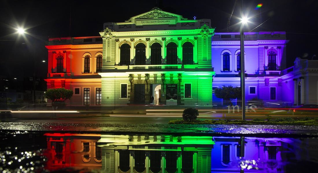 Illuminate Museum for commemoration of the International Day of LGBT Pride in western Mexico © EPA