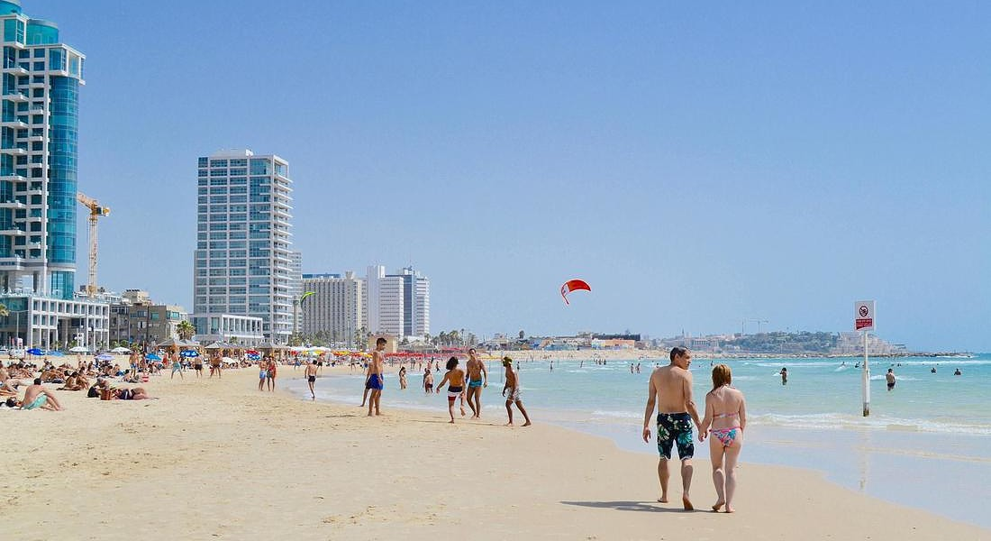 Tel Aviv spiaggia © ANSA