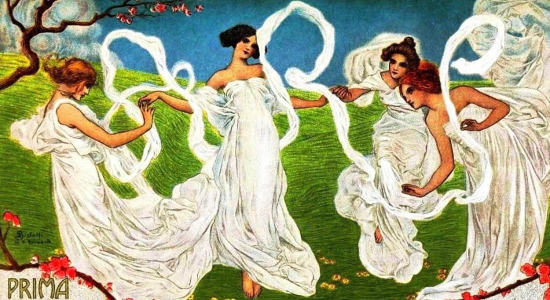 Esposizione universale torino 1902 manifesto stile Art Nouveau © ANSA
