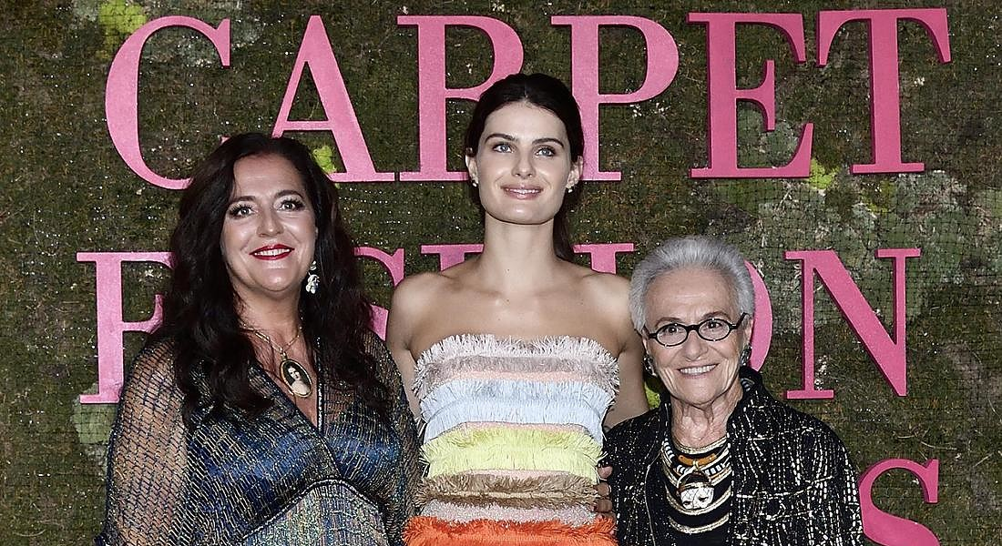 Angela Missoni , la modella brasiliana Isabeli Fontana e Rosita Missoni ai Green Carpet Fashion Awards 2018, © ANSA