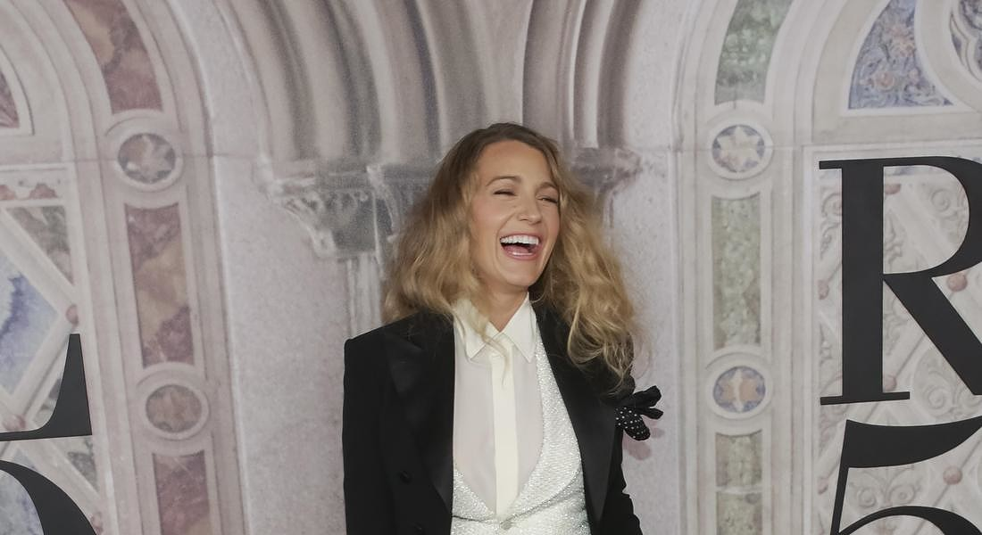 Blake Lively all'evento a Central Park per i 50 anni del brand Usa Ralph Lauren © AP