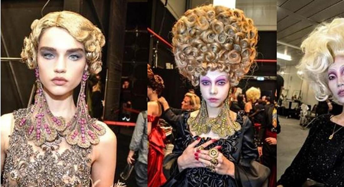Gli hairlook stravaganti di Jimmy Paul e del team Ghd per la sfilata di Moschino © ANSA